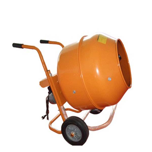 Mobile Electrical Wheelbarrow-Style Mini Cement Mixer