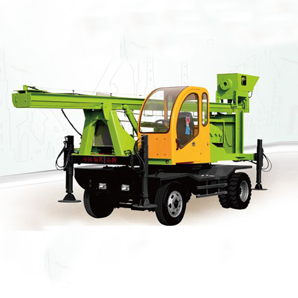 Wheeled Type Spiral Pile Drilling Machine