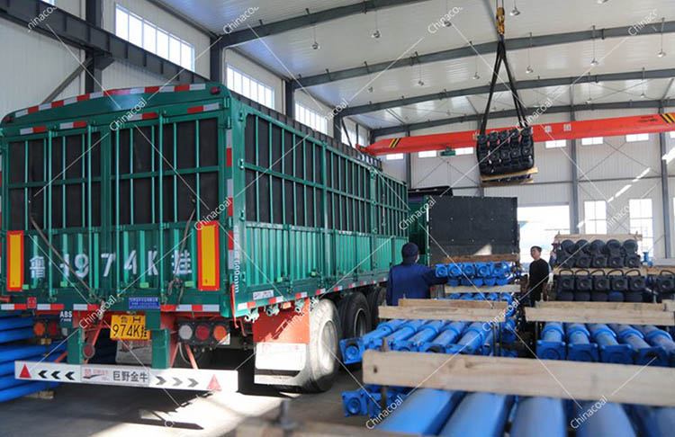 China Coal Group Sent A Batch Of Mining Single Hydraulic Props To Datong, Shanxi Province